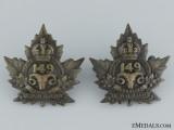 "WWI 149th Infantry Battalion ""Lambton Battalion"" Collar Pair"