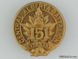 WWI 151st Infantry Battalion Officer's Cap Badge; 2nd Version