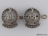 WWI 15th Infantry Battalion Officer's Collar Badge Pair CEF