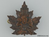 "WWI 204th Infantry Battalion ""Toronto Beavers"" Cap Badge"
