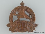 "WWI 206th Infantry Battalion ""Canadiens Francais"" Cap Badge"