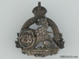 WWI 235th Infantry Battalion Officer's Collar Badge CEF