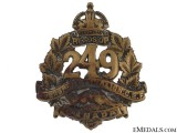 WWI 249th Infantry Battalion Cap Badge CEF