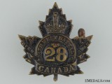 WWI 28th Infantry Battalion Collar Badge CEF
