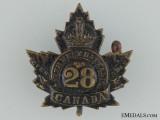 WWI 28th Infantry Battalion Collar Badge CEF