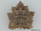 WWI 29th Infantry Battalion Cap Badge CEF