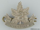 WWI 2nd British Columbia Infantry Collar Badge CEF