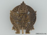 WWI 32nd Infantry Battalion Cap Badge CEF