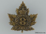 WWI 8th Reserve Infantry Battalion Cap Badge CEF