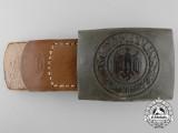 A German Army (Heer) Enlisted Man's Belt Buckle by WERNER LINKER DUISBERG