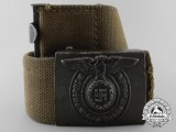 An Rare Tropical SS Enlisted Man's Belt with Buckle by Assmann