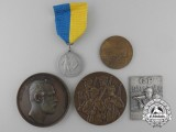 Four Swedish Shooting Medals and Awards
