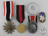 Five Second War German Badges, Medals, and Awards