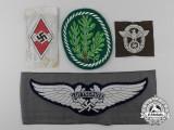 Four German Cloth Insignia
