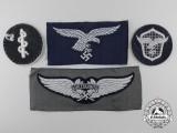 Four Second War Luftwaffe Cloth Insignia