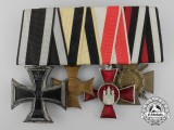 A First War Iron Cross Medal Group; Marked Wilhelm Deumer