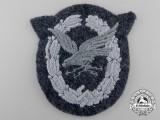 A Luftwaffe Radio Operator & Air Gunner Badge; Cloth Version