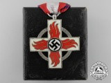 A German Fire Brigade Cross with Case; 2nd Class
