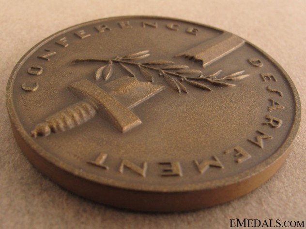 Medal for Swiss Disarmament Conference, Geneva 1932