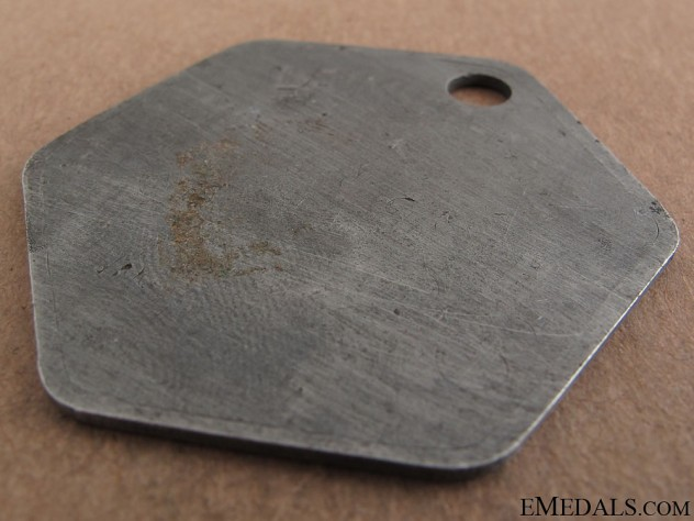 Daimler-Benz Worker's Numbered ID Tag