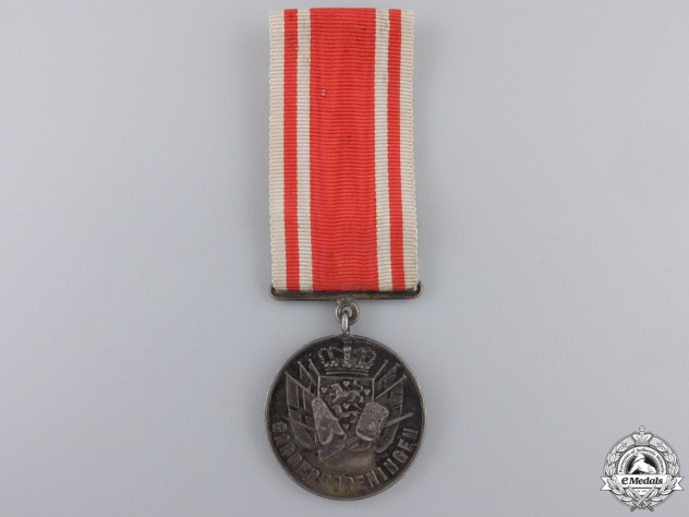 Denmark, Kingdom. A Silver Medal of the Royal Guards, c.1885