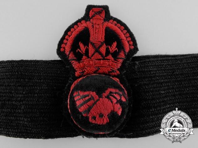 A Royal Naval Air Service Cap Badge & Band
