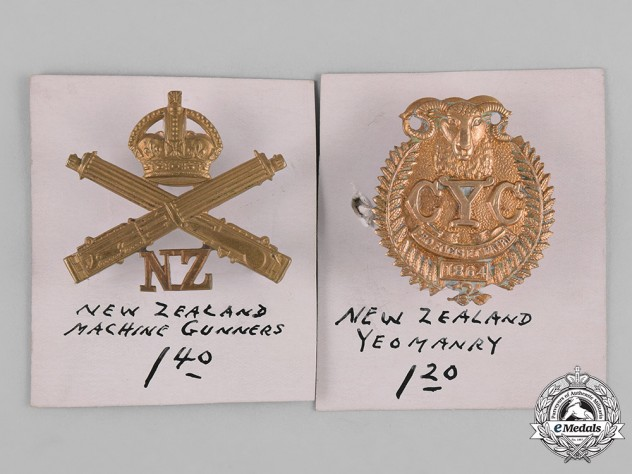 New Zealand. Two First War Cap Badges