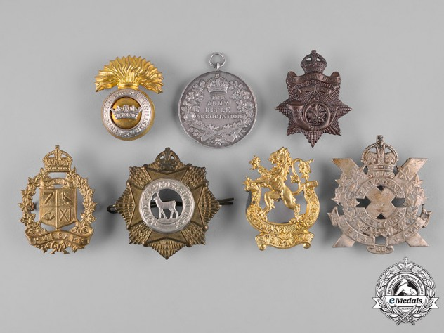 United Kingdom. A Lot of Ten Badges and Medals