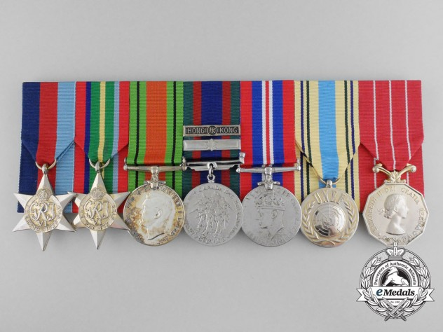A Hong Kong POW Group to Rifleman Duplassie; Royal Rifles of Canada