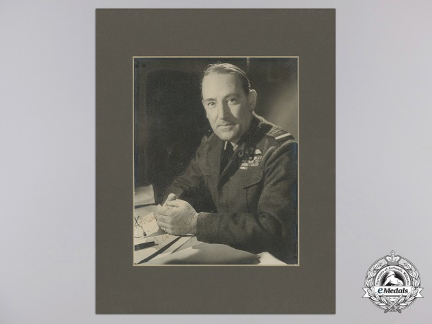 An Early Second War RAF Signed Officer's Portrait of Air Marshal Sir Arthur Coningham