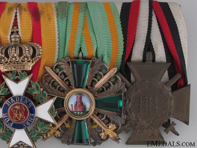 A Fine Military Karl Friedrich Merit Order Medal Bar