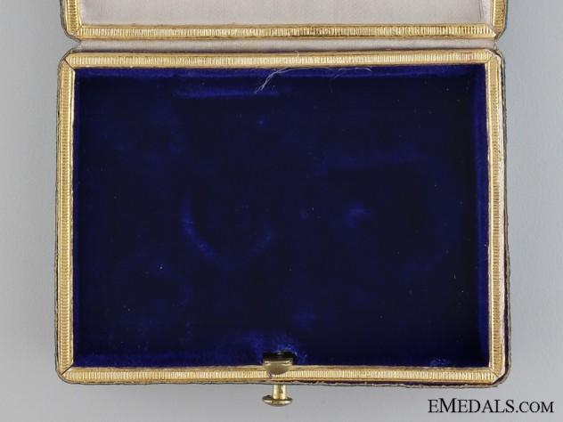 A First War Golden Military Merit Cross Case and Outer Cartonage