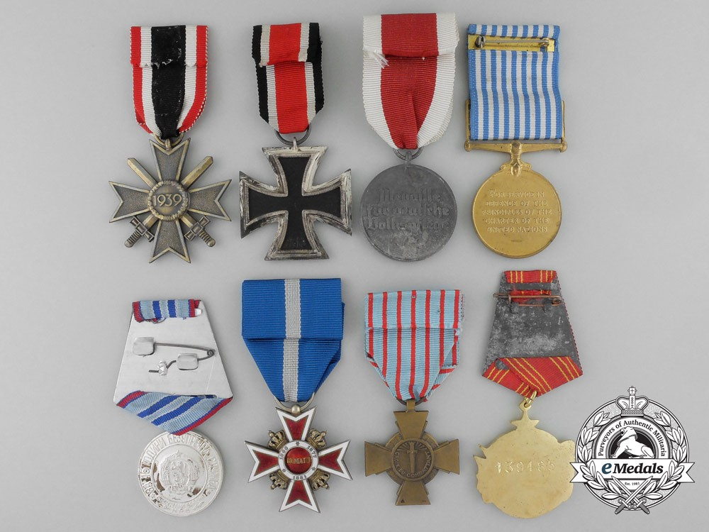 A lot of eight european medals decorations awards for Awards decoration