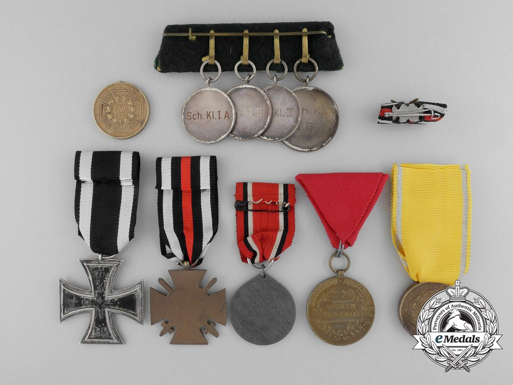 A lot of ten austrian and german imperial medals awards for Awards and decoration