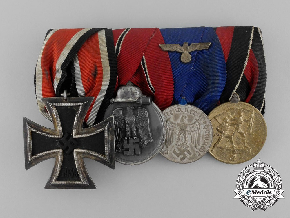A second war german medal bar of four medals awards and decorations - German military decorations ww2 ...