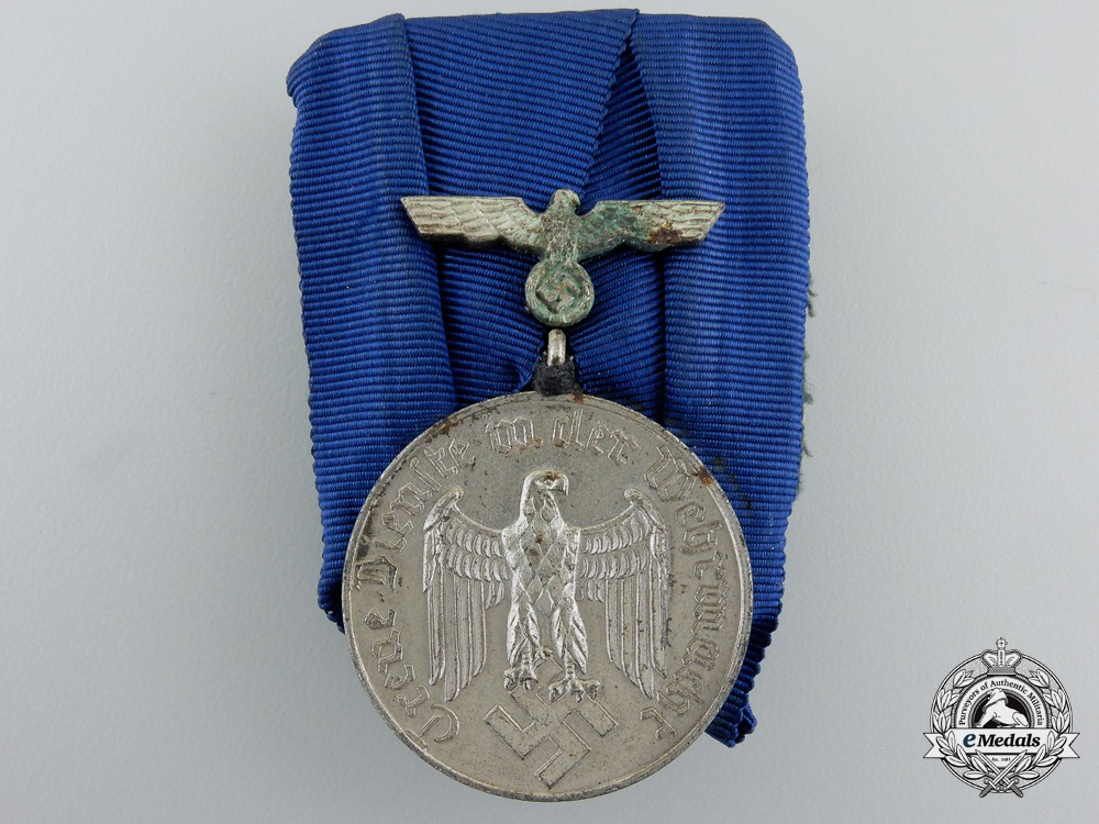A German Army Long Service Medal; 4th Class For Four Years