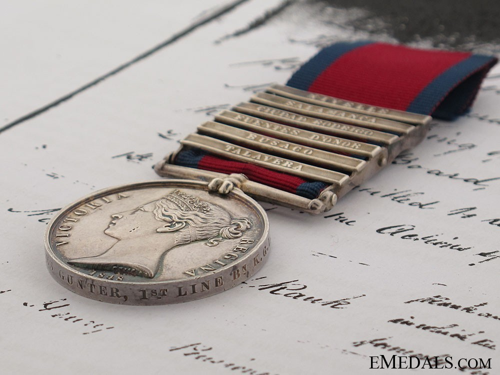 Military General Service Medal, Private Charles Gunter ...