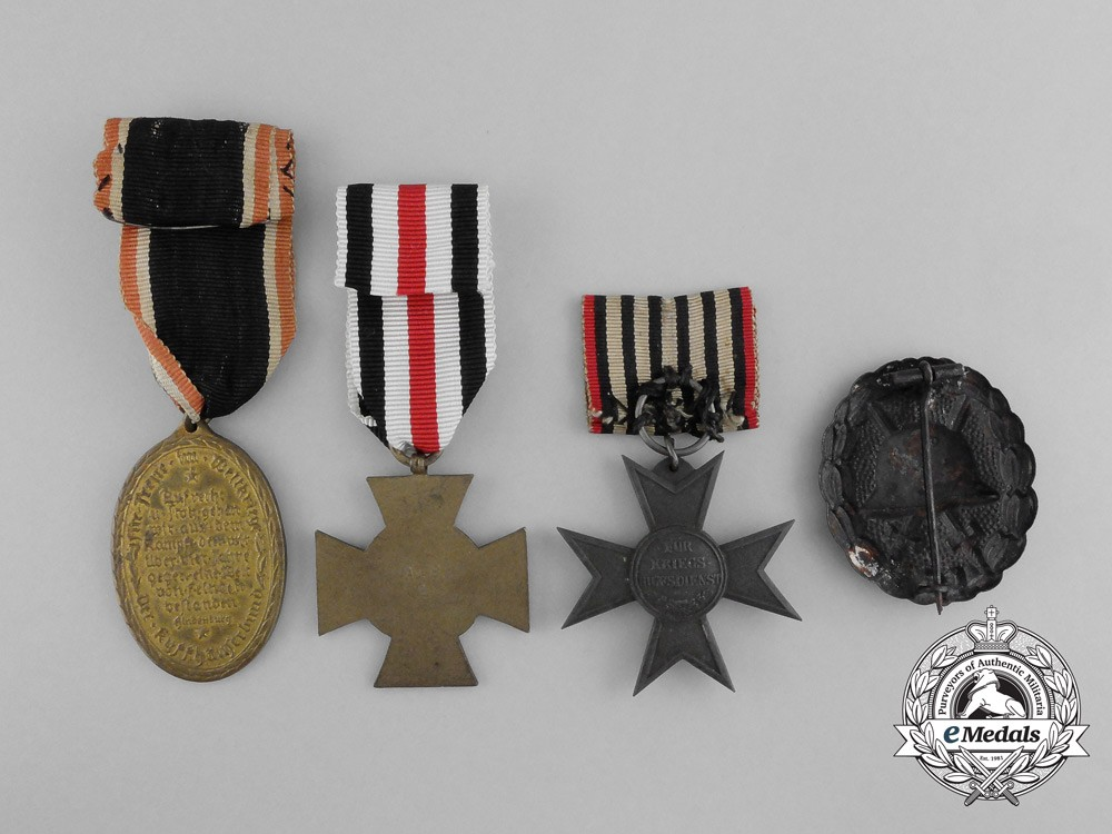 A lot of four imperial german medals awards and decorations for Awards and decoration