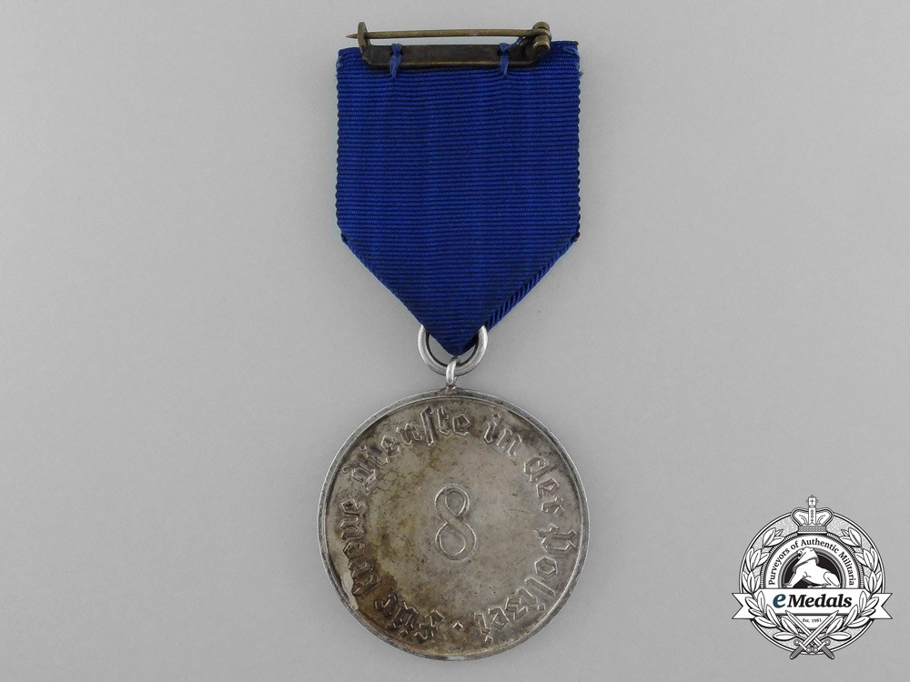 A Second War German Police 8-Year Long Service Medal