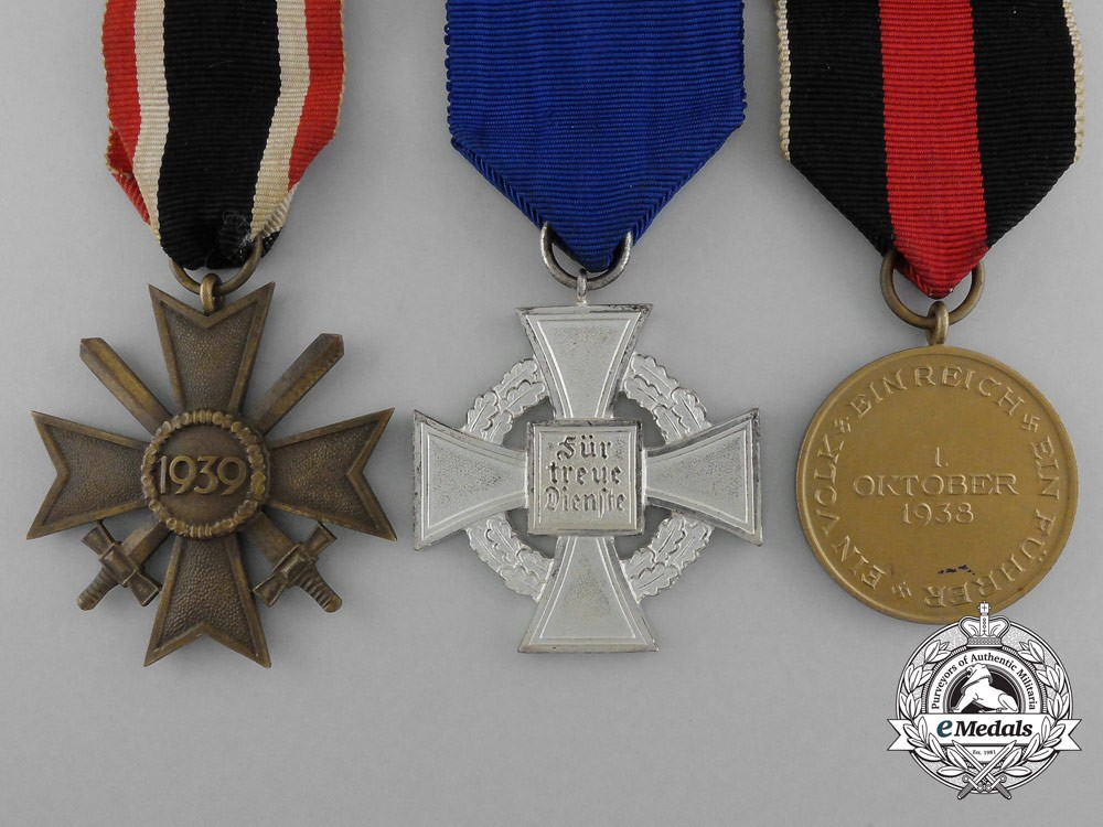 A lot of three second war period medals awards and for Awards and decoration