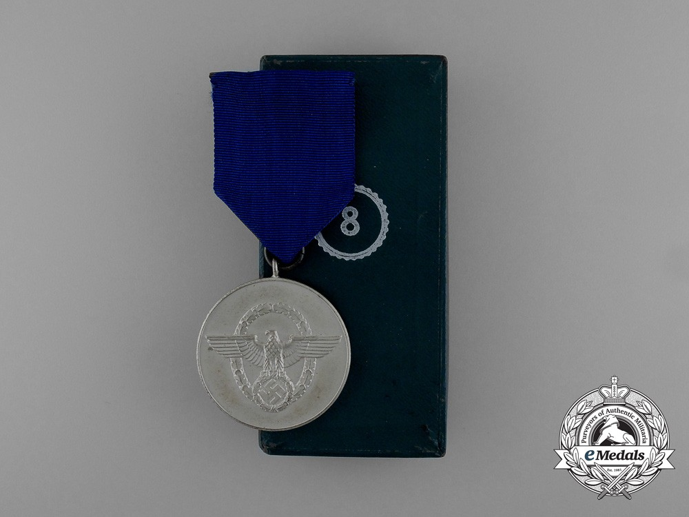 A Mint Second War German Police 8-Year Long Service Medal