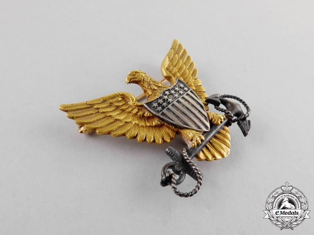 united states  a superb coast guard officer u0026 39 s cap badge in