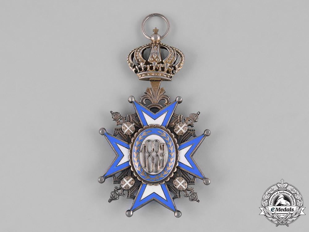 Serbia, Kingdom. An Order of St. Sava, I Class Grand Cross Badge, by Huguenin, c.1941