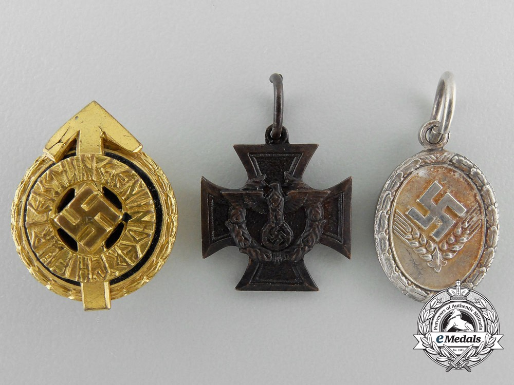 Three fine miniature german medals decorations for Awards decoration