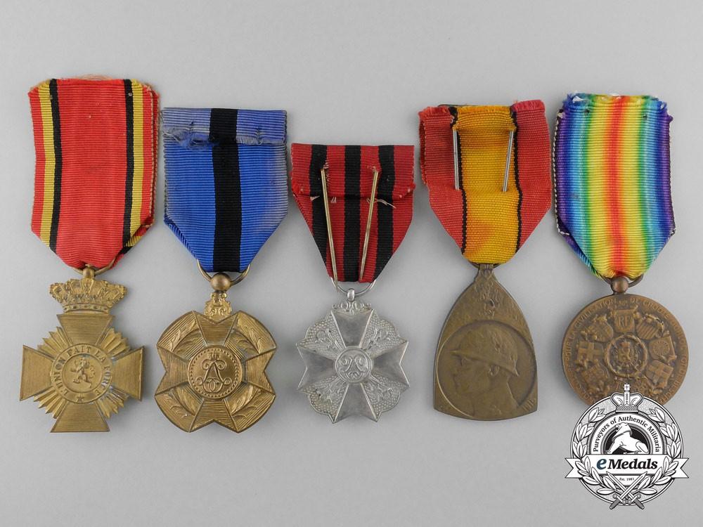 Five first war belgian medals awards decorations for Award decoration