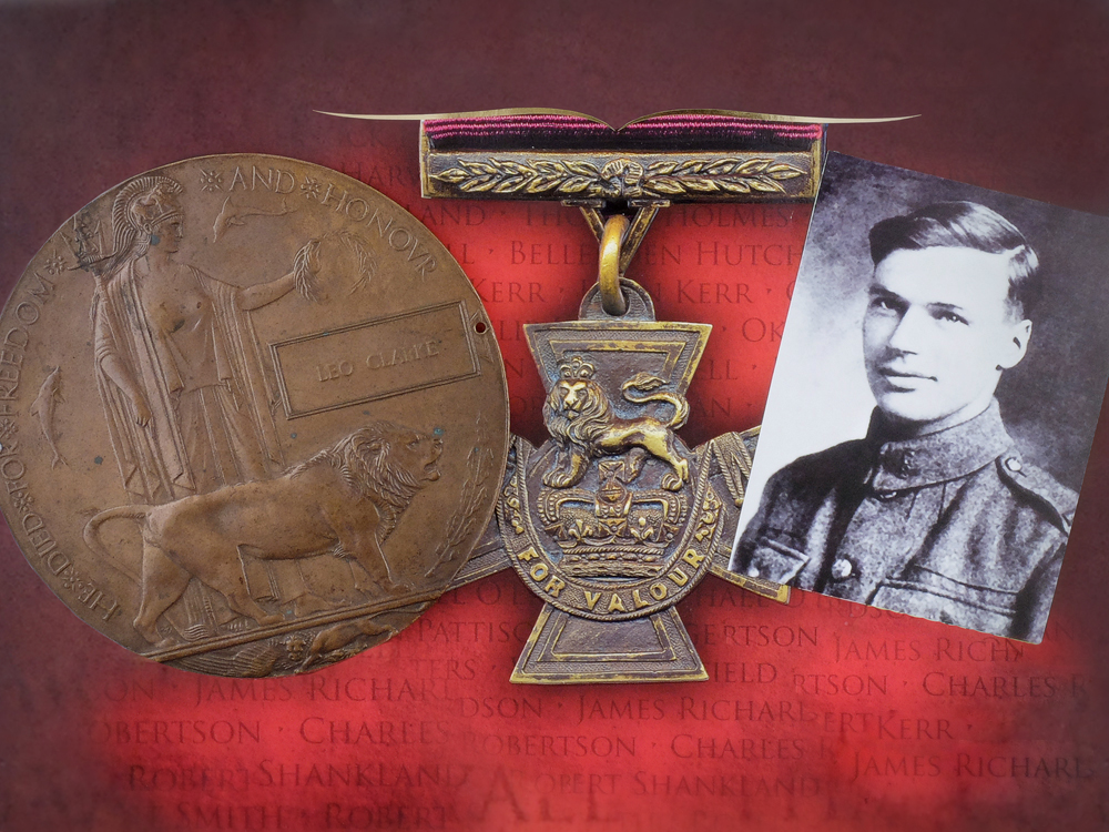 A Valour Road Victoria Cross Memorial Plaque to Leo Clarke